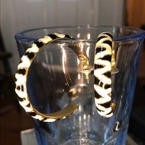 🥰🦓 Kenneth Jay Lane Zebra Striped Earrings 🦓🥰